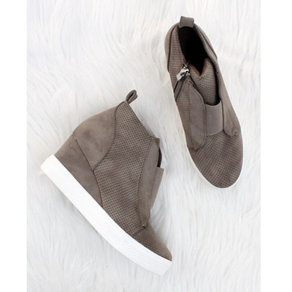 ae0f8191a17 Journee Collection Shoes - Grey wedge sneakers